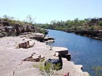 Koolpin Gorge to Twin Falls Trail in Kakadu